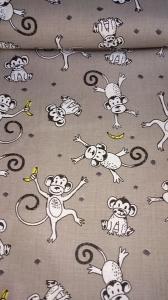 Baumwolle Stoff Affen Stoff, Kinderstoff, Mädchen, Junge, Frau, Patchwork