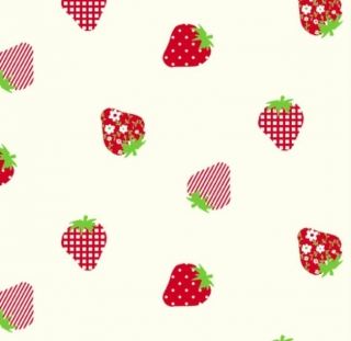 Baumwolle Stoff Mädchen Erdbeeren, Stoff, Kinderstoff, Mädchen, Junge, Frau, Patchwork