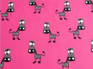 Baumwolle Stoff Zebra auf pink, Stoff, Kinderstoff, Mädchen, Junge, Frau, Patchwork