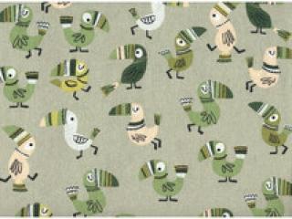 Baumwolle Stoff Tukan auf Oliv, Stoff, Kinderstoff, Mädchen, Junge, Frau, Patchwork