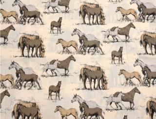 Baumwolle Stoff Mädchen Pferde, Stoff, Kinderstoff, Mädchen, Junge, Frau, Patchwork