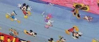 Baumwolle Kinderstoff Mickey Mouse blau Junge Mädchen Baby Kinderstoff Daisy