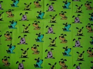 Baumwolle Stoff Hunde auf gelb, Junge, Mädchen, Kinderstoff, Patchwork