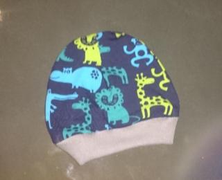 Beanie Mütze Junge Zootiere KU 37-60 Wunschgröße