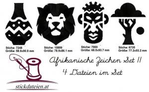 Set 2 von Afikanischen Symbolen V - VIII, Stickdatei 10x10 - Handarbeit kaufen