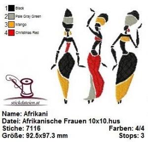 Afrikanische Frauen, Stickdatei 10x10