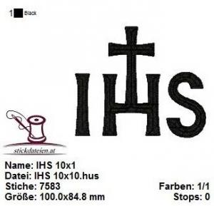 IHS, Jesus, Bibel, Stickdatei 10x10
