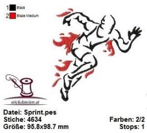 Sprint, Stickdatei 10x10 - Handarbeit kaufen