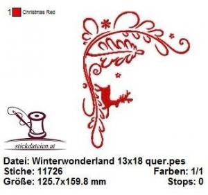 Winterwonderland, Winter, Weihnachten Stickdatei 13x18 - Handarbeit kaufen