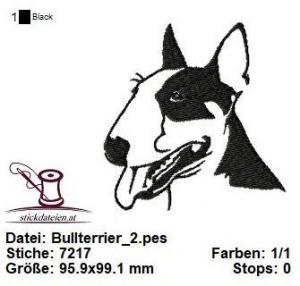 Bullterrier_2, Stickdatei 10x10 - Handarbeit kaufen