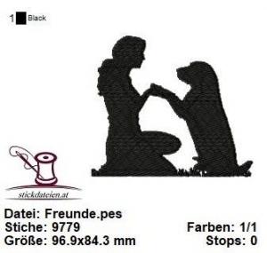☆☆☆ HundeFreunde, Stickdatei 10x10 ☆☆☆ - Handarbeit kaufen