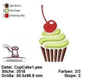 ♥♥♥ Cup Cake_1, Stickdatei 10x10 ♥♥♥ - Handarbeit kaufen
