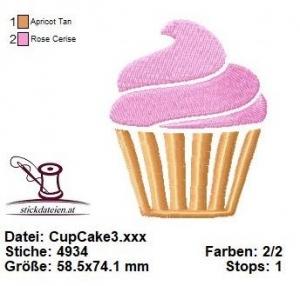 ♥♥♥ Cup Cake_3, Stickdatei 10x10 ♥♥♥ - Handarbeit kaufen