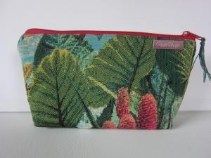 PARADISE Schöne kleine Universal/ Kosmetiktasche aus hochwertigem Gobleinstoff mit schönem Tropendesign - Handarbeit kaufen