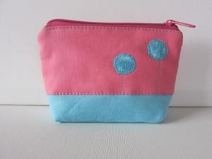 *Rosarot und Himmelblau *Hübsches,kleines Universaltäschchen aus recycelten Jeans und Stoffresten