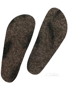 FilzWerk Schafwoll-Filzeinlegesohlen Gr. 43/ unisex / grau / herrlich warm / gesundes Klima im Schuh / feuchtigkeitsregulierend  - Handarbeit kaufen