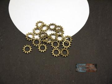Charms, 20 Stück,  Zahnräder, Charms Zahnräder, Zahnrad, Bronze, Schmuckherstellung, Schmuck, Schmuck DIY, Schmuckzubehör, Steampunk