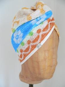 Turban, Handtuchturban aus original altem Handtuch
