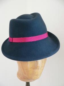 Hut, Trilby, Hut mit kurzer Krempe, Hut aus hochwertigem Haarfilz