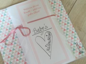 Babys Meilensteine Meilensteinkarten Geschenk Geburt Mädchen