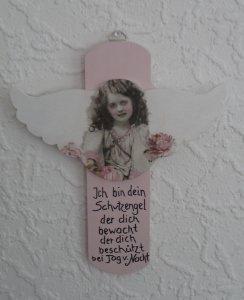 Türschild Taufe Kreuz ..gesucht Wunschname Baby Engelsflügel