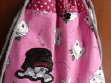 Turnbeutel für kleine Mädchen Miezekatze Katze Pfote