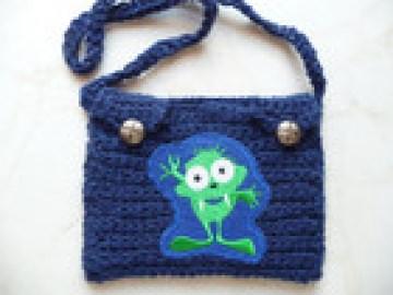 Brustbeutel - Portemonnaie - Brusttasche Monster für Kinder
