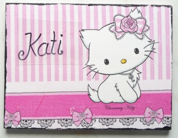 Türschild...Kinderzimmer gesucht Wunschname Mädchen  Katze