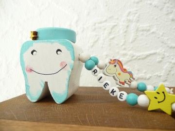 Zahndose von der Zahnfee für Mädchen Wunschname