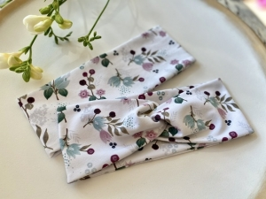 Haarband Summer Day Blumen Weiß Stirnband Elastisch mit oder ohne Knoten Alle Größen - Handarbeit kaufen