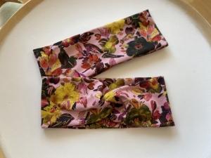 Stirnband Blumenpracht Altrosa Haarband Elastisch mit oder ohne Knoten - Handarbeit kaufen