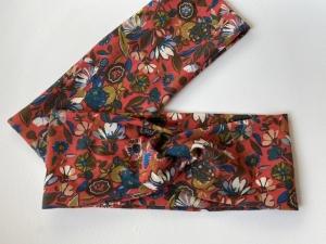 Stirnband Frühlingsblumen Rotorange Haarband Elastisch mit oder ohne Knoten - Handarbeit kaufen