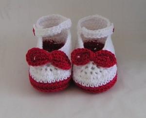 Babyschuhe Ballerinas Rockabilly Häkelanleitung - Handarbeit kaufen