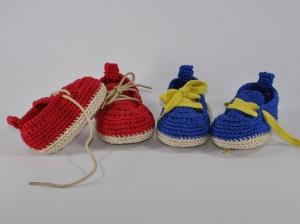 Babyschuhe VAN-Style für Jungen und Mödchen Häkelanleitung - Handarbeit kaufen