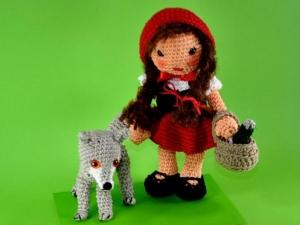Rotkäppchen und der Wolf Amigurumi Häkelanleitung - Handarbeit kaufen