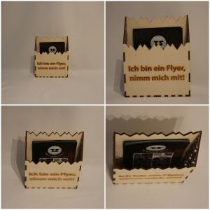 Flyerhalter aus Holz, Briefbehälter, Flyersammler, Briefsammler, Flyerbehälter
