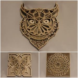 Multilayer Bild - 3D Bild aus Holz