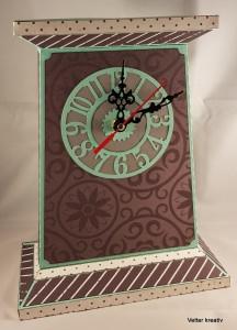 ♡♡ handgefertigte Uhr mit Uhrwerk ♡♡ aus Papier/Cardstock