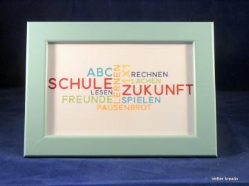 ♥♥ Rahmen mit Karte zur Einschulung♥♥    10 x 15 cm