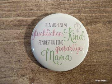 ♡♡ glückliches Kind - großartige Mama ♡♡ Magnet 59 mm