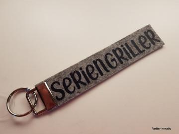 ☆☆ Seriengriller ☆☆ handgefertigter Schlüsselanhänger aus Wollfilz
