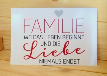 Karte 10 x 15 cm ☆ Familie ☆