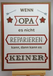 Karte 10 x 15 cm ☆ wenn Opa es nicht reparieren kann ... ☆