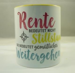 Tasse mit Sublimationsdruck ★ Rente bedeutet nicht Stillstand ★