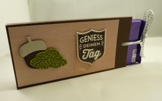 Schokoladenziehverpackung - Geschenkverpackung für eine Tafel Schokolade