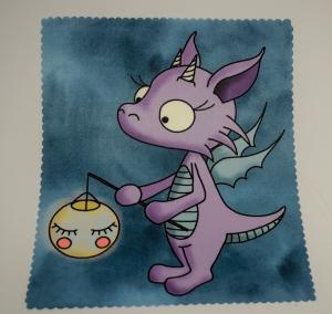 Brillenputztuch★Glastuch★Displayreinigung★Sublimationsdruck★ ... Drachenmädchen mit Laterne