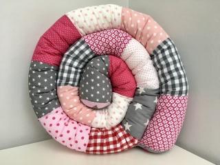 Bettschlange⭐️Nestchen⭐️Rosa/Pink/Grau⭐️Ab 180cm ⭐️ - Handarbeit kaufen