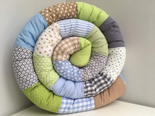 Bettschlange⭐️Nestchen⭐️Schlicht&Schön⭐️Beige/Blau/Grün/Grau⭐️Ab 180cm ⭐️ - Handarbeit kaufen