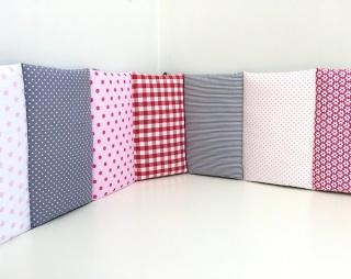 Ab 45€ • Nestchen⭐️Rosa/Pink/Grau/Rot⭐️Babybett⭐️BBay⭐️BBay Maxi⭐️Ab 145cm Länge⭐️ - Handarbeit kaufen