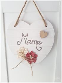 Holzschild weiß Herz mit Schriftzug